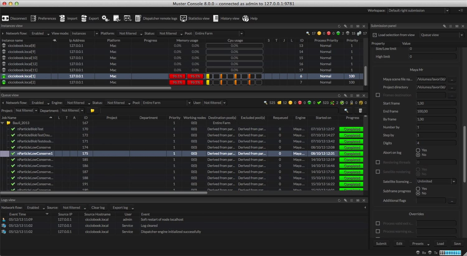 Gregdesign | Network render farm manager software index image 8