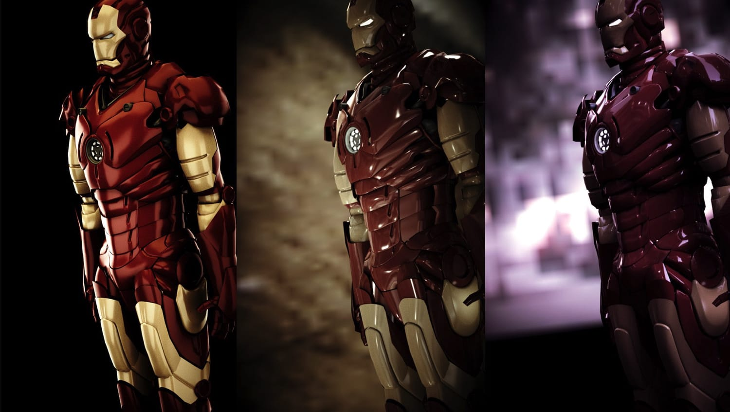 Gregdesign | Ironman 3D unbiased rendering